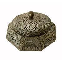 DEKOBOX - Silberfarben, Metall (22/13,5cm) - Ambia Home