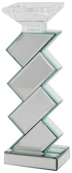 LJUSSTAKE - klar/silver, Design, glas/träbaserade material (10/33/10cm) - Ambia Home