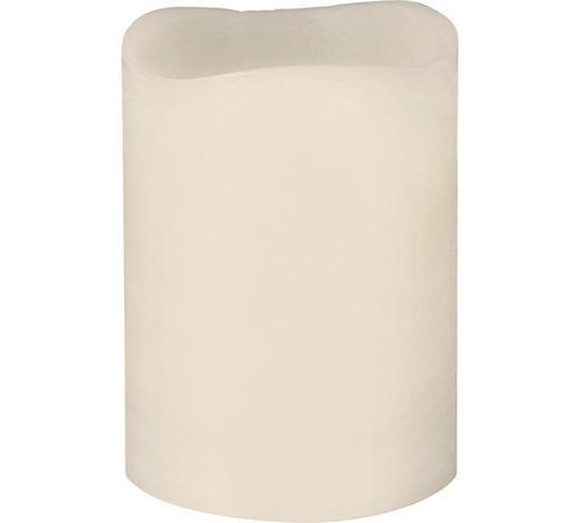 KERZE MIT LED 7,5/10 cm  - Creme, Basics (7,5/10cm)