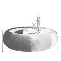 COUCHTISCH in Glas, Holzwerkstoff, Textil 110/110/40 cm - Braun, Design, Glas/Holzwerkstoff (110/110/40cm) - Bretz