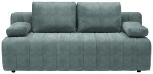 SCHLAFSOFA in Textil Türkis  - Türkis/Schwarz, MODERN, Kunststoff/Textil (198/87/92cm) - Xora