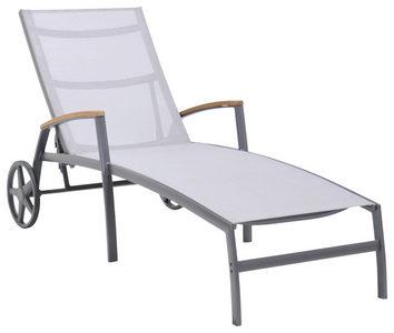 BAŠTENSKA LEŽALJKA - Prirodna boja/Siva, Dizajnerski, Tekstil/Drvo (77,6/180cm) - Ambia Garden