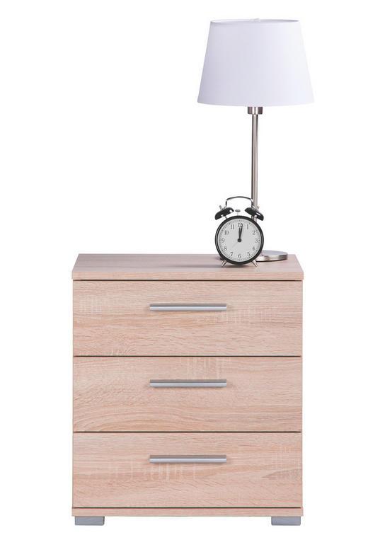 NACHTKÄSTCHEN Eichefarben - Eichefarben/Alufarben, Design, Kunststoff (45/50/34cm) - Carryhome