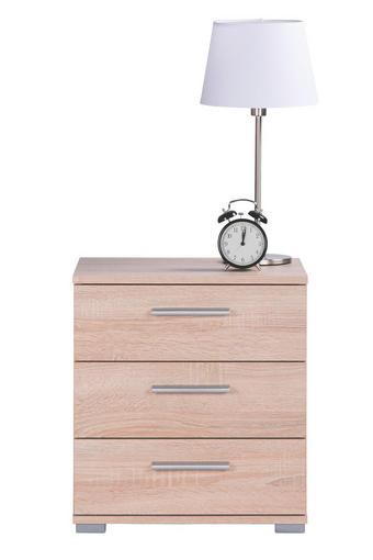 NOĆNI ORMARIĆ - boje hrasta/boje aluminija, Design, drvni materijal/plastika (45/50/34cm) - Ti`me