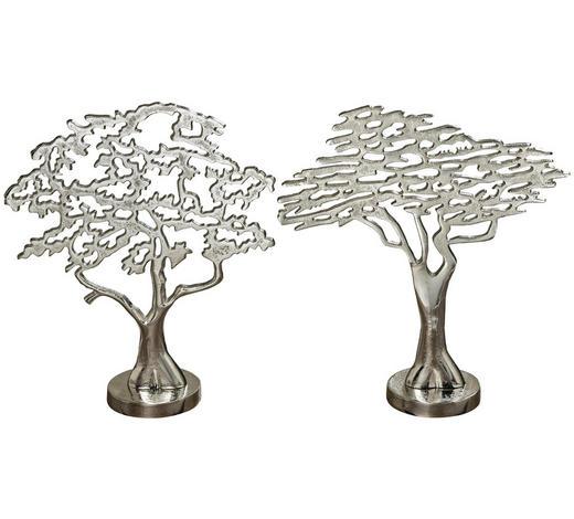 DEKOBAUM - Silberfarben, Design, Metall (30/10/33cm)