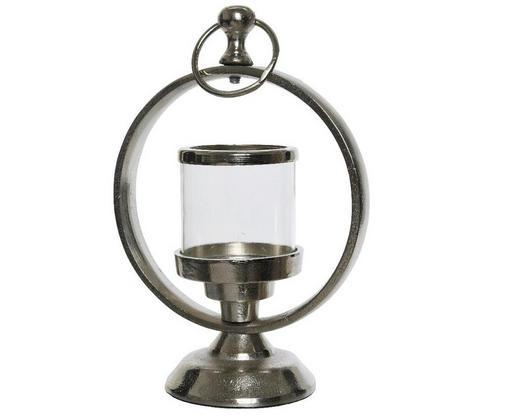 WINDLICHT - Edelstahlfarben/Transparent, Holz/Metall (15/20cm)
