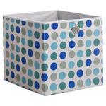 FALTBOX Textil Blau, Grau, Türkis  - Türkis/Blau, Basics, Textil (32/32/32cm) - Carryhome