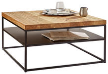 COUCHTISCH Eiche massiv  - Design, Holz/Metall (80/40/80cm) - Novel