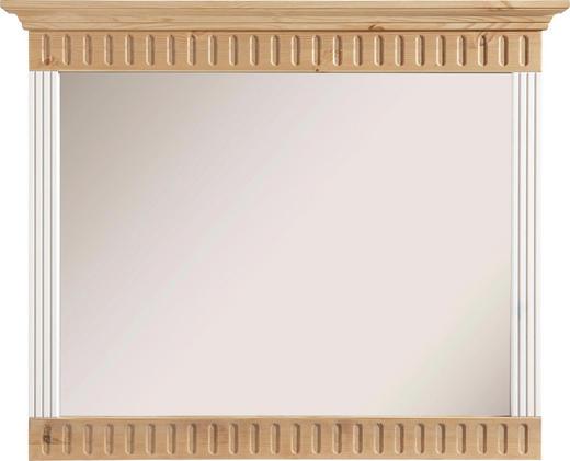 SPIEGEL Kieferfarben, Weiß - Weiß/Kieferfarben, Design, Holz (105/86/7cm) - Carryhome