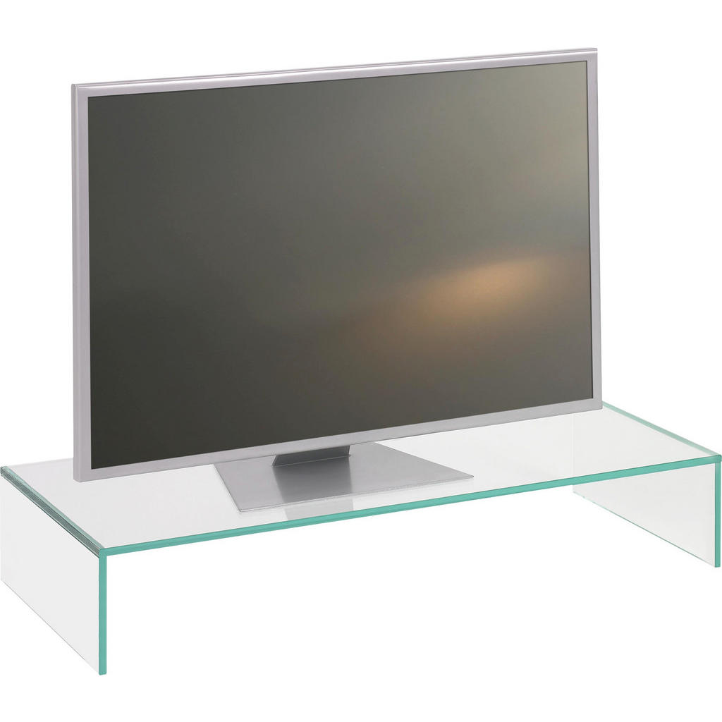 Transparenter TV-Aufsatz aus Sicherheitsglas