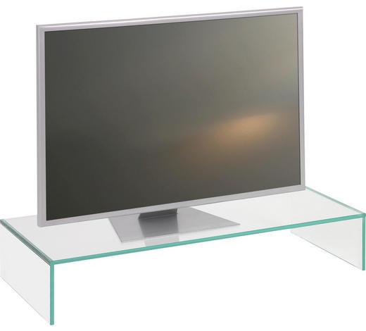 TV NÁSTAVEC, sklo, průhledné - průhledné, Design, sklo (80/14/35cm) - Boxxx