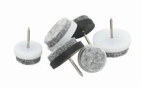 MÖBELTASSAR - alufärgad/grå, metall/textil (2cm)