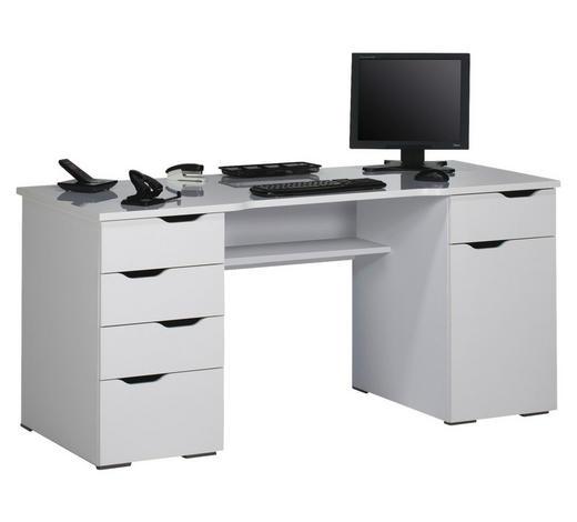 SCHREIBTISCH Weiß  - Weiß, Basics (160/74,5/67cm)