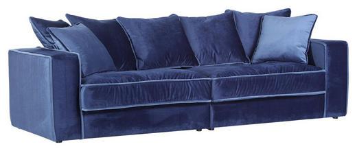 MEGASOFA Flachgewebe Blau, Dunkelblau - Blau/Schwarz, Trend, Kunststoff/Textil (270/50-69/113cm) - Carryhome