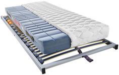 MATRATZENSET 90/200 cm  - Silberfarben, Basics, Holz (90/200cm) - Sleeptex