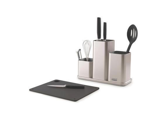 DRŽAČ KUHINSKOG PRIBORA - siva/boje srebra, Konvencionalno, plastika (13 22,7 30,8cm)