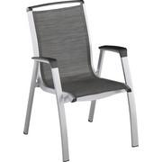 STAPELSESSEL - Anthrazit/Silberfarben, Design, Textil/Metall (75/67/113cm) - Kettler HKS
