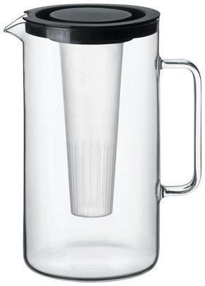 GLASBRINGARE - svart/transparent, Basics, glas/plast (17,6/25,2cm)