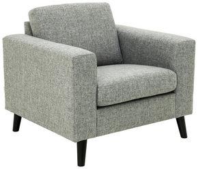 FÅTÖLJ - svart/grå, Design, trä/textil (92/86/84cm) - Welnova