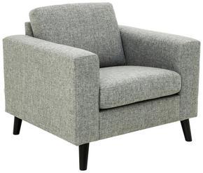 FÅTÖLJ - svart/grå, Design, trä/textil (92/86/84cm) - Lerche Home