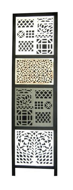 VIKVÄGG - vit/grå, Lifestyle, trä/träbaserade material (150/180cm) - Ambia Home