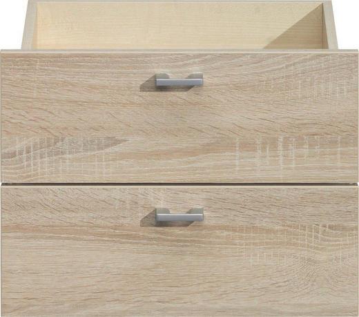 SCHUBLADENSET 43/32/35 cm Eichefarben - Eichefarben/Silberfarben, Design, Metall (43/32/35cm) - CS SCHMAL
