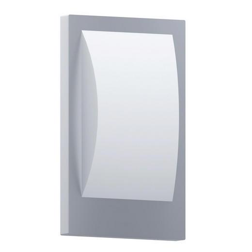 LED-AUßENLEUCHTE - Edelstahlfarben/Weiß, KONVENTIONELL, Kunststoff/Metall (18cm)