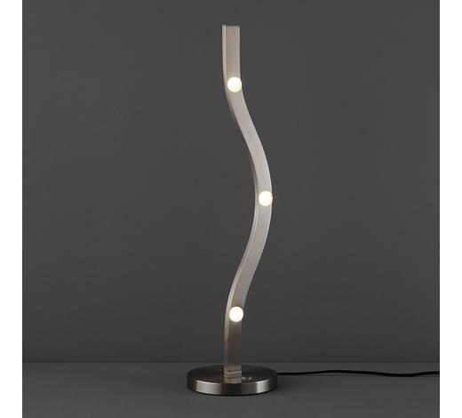 LED-TISCHLEUCHTE   - Nickelfarben, MODERN, Metall (59/15/15cm)