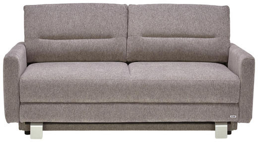 SCHLAFSOFA in Textil Grau - Alufarben/Grau, KONVENTIONELL, Textil (165/83/93cm) - Sedda