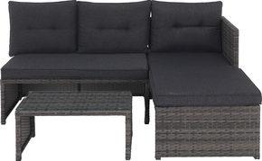 LOUNGEGRUPP - grå, Design, metall/glas (173/120cm) - Xora