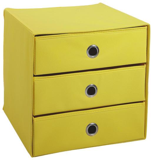 BOX Karton, Textil Gelb - Gelb, Design, Karton/Textil (31,5/32/31,5cm) - Carryhome
