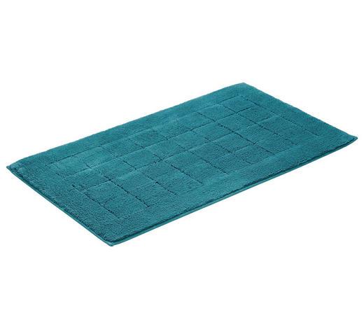 PŘEDLOŽKA KOUPELNOVÁ - petrolej, Basics, textilie/umělá hmota (67/120cm) - Vossen