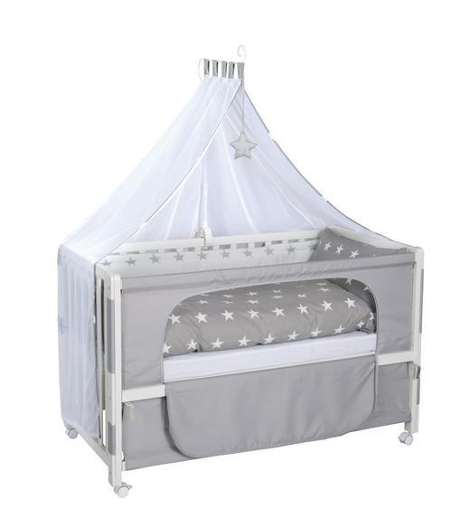 GITTERBETT-KOMPLETTSET Room Bed Little Stars Grau, Weiß - Weiß/Grau, Holz/Textil (60/120cm) - Roba