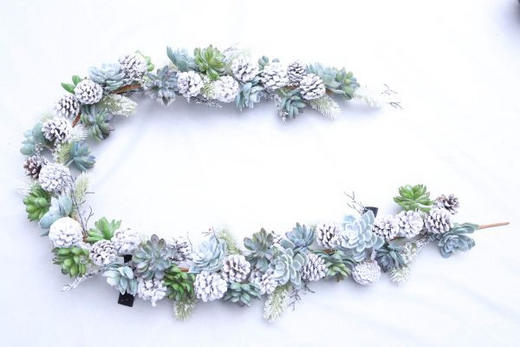 GIRLANDE  Grün, Weiß - Weiß/Grün, Papier/Kunststoff (180cm) - X-Mas