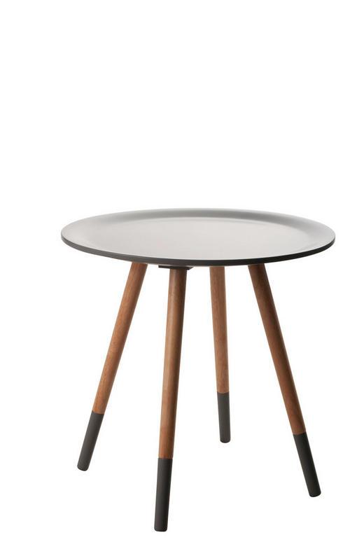 BEISTELLTISCH rund Grau, Hellbraun - Hellbraun/Grau, Design, Holz (48/48cm)