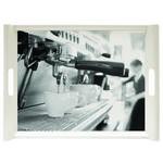 SERVIERTABLETT  45,5/31 cm  - Schwarz/Grau, KONVENTIONELL, Kunststoff (45,5/31cm) - Homeware