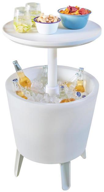 GARTEN-BARTISCH in Weiß - Weiß, Design, Kunststoff (50/50/57cm)
