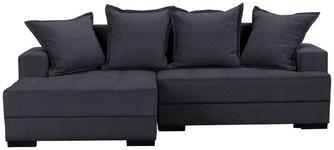 WOHNLANDSCHAFT in Textil Anthrazit  - Anthrazit/Schwarz, KONVENTIONELL, Holz/Textil (148/238cm) - Carryhome