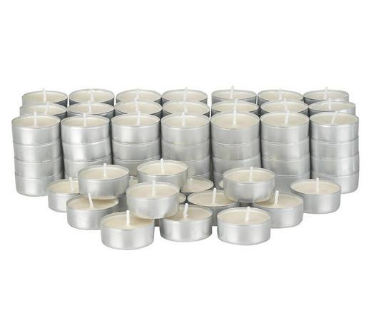 ČAJOVÁ SVÍČKA - bílá, Basics, kov (19/19/5cm) - Boxxx