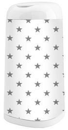 Windeleimerbezug - Weiß/Grau, Basics, Textil (27,5/42cm)