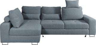 WOHNLANDSCHAFT in Textil Blau - Blau, Design, Textil/Metall (188/260cm) - Hom`in