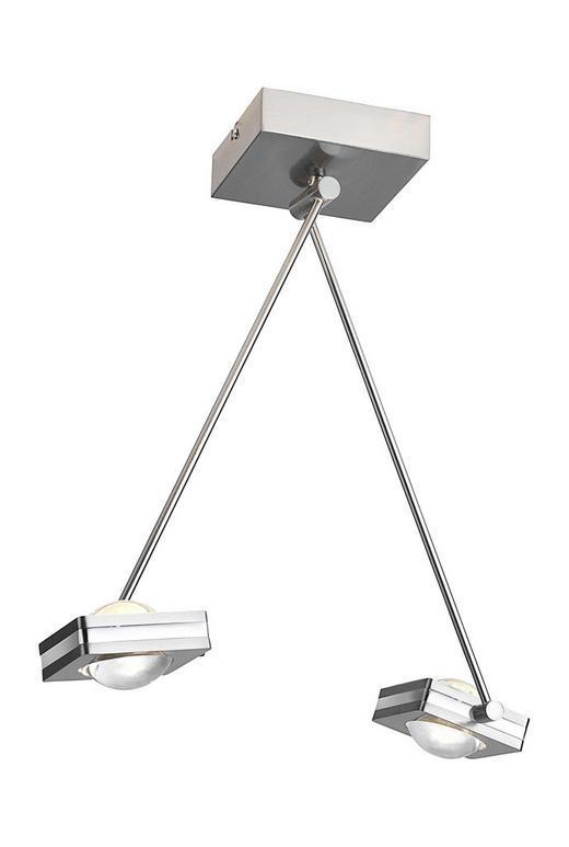 LED-DECKENLEUCHTE - Nickelfarben, Design, Metall (83,5/25,5/52,5cm)