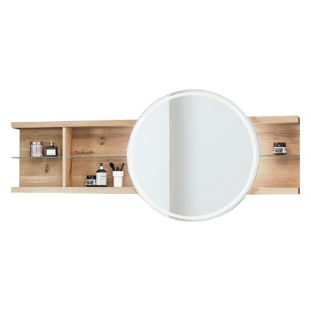 Valdera Badezimmerspiegel wildeiche weiß