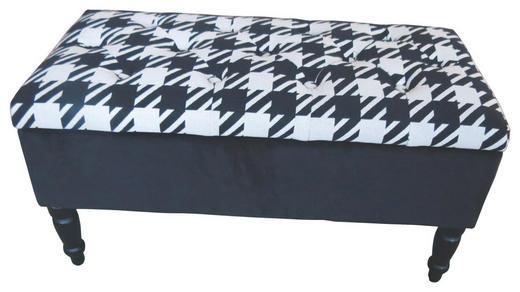 SITZBANK Schwarz, Weiß - Schwarz/Weiß, MODERN, Holz/Textil (80/40/40cm) - CARRYHOME