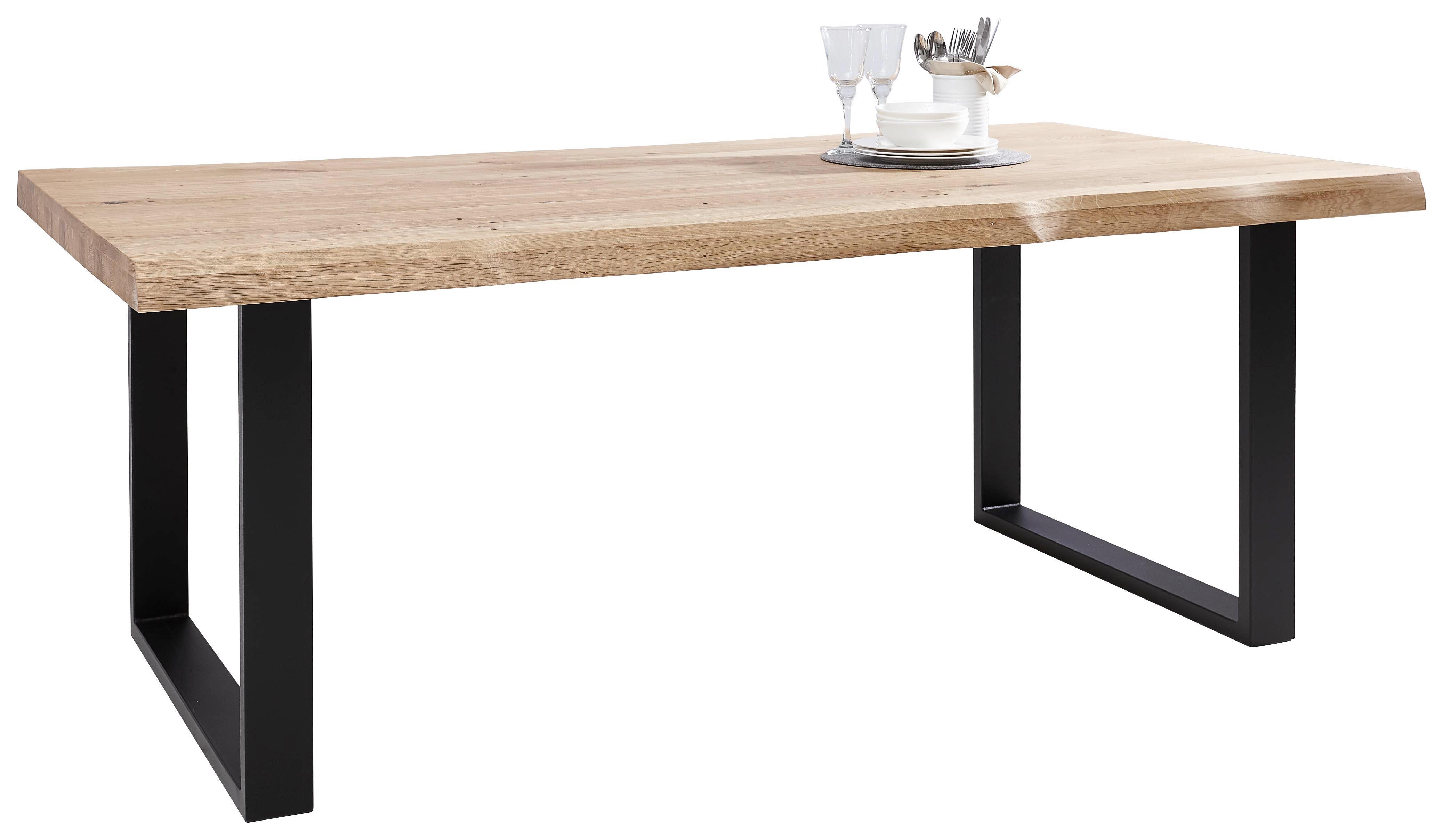 Exquisit Esstisch Holz Metall Sammlung Von Affordable Cheap Wildeiche Massiv Rechteckig Eichefarben Schwarz