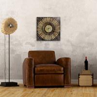 Abstraktes, Ornamente ORIGINALBILD - Multicolor, Basics, Holz/Textil (40/40/3,80cm) - EUROGRAPHICS