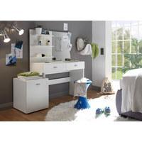 SCHMINKTISCH in Weiß  - Silberfarben/Weiß, Design, Glas/Holzwerkstoff (132/145/43cm) - Xora