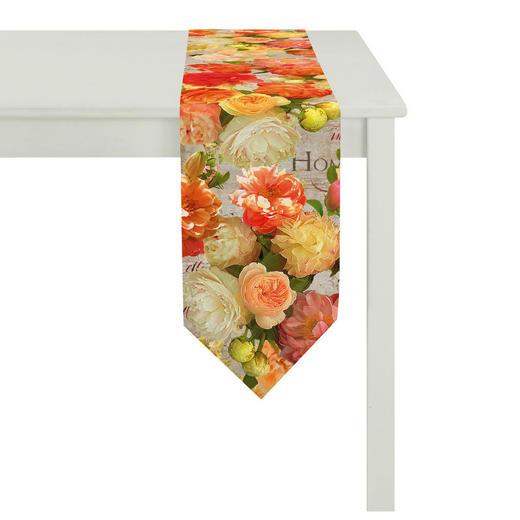 TISCHLÄUFER Textil Beige, Gelb, Grün, Multicolor, Orange 25/175 cm - Beige/Gelb, Textil (25/175cm) - Landscape