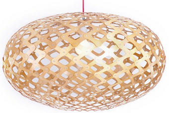 VISEČA SVETILKA OLIVE - prozorna, Konvencionalno, umetna masa/les (65x40/170cm)