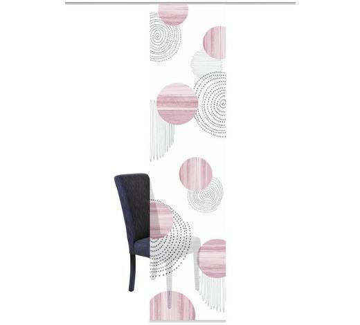 FLÄCHENVORHANG in Rosa, Rot - Rot/Rosa, Design, Textil (60/260cm)